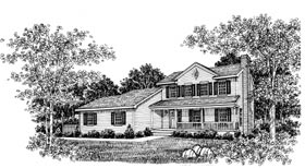 Country House Plan 99040 with 3 Beds, 3 Baths Elevation