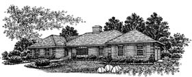 Ranch , Traditional House Plan 99042 with 3 Beds, 3 Baths, 2 Car Garage Elevation