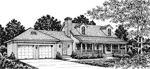 Cape Cod Country House Plan 99045 Elevation