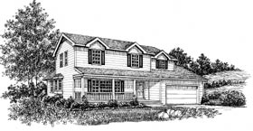 Country House Plan 99046 Elevation
