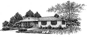 Plan Number 99047 - 1384 Square Feet