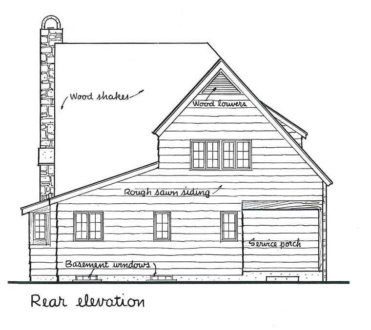 Tudor House Plan 99051 Rear Elevation