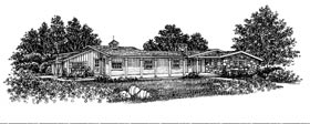 Ranch House Plan 99054 Elevation