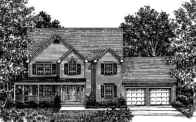 Country Farmhouse House Plan 99056 Elevation