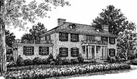 Colonial Southern House Plan 99058 Elevation