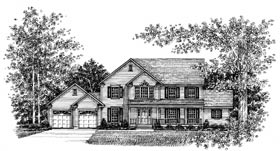 Country , Farmhouse House Plan 99059 with 4 Beds, 4 Baths, 2 Car Garage Elevation