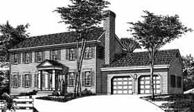 Colonial House Plan 99061 Elevation