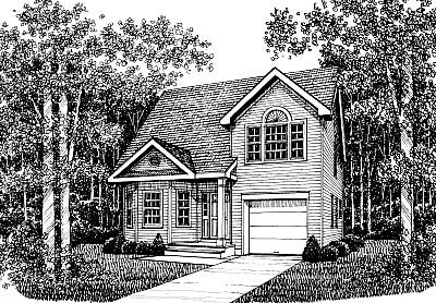 Country House Plan 99066 with 3 Beds, 3 Baths, 1 Car Garage Elevation