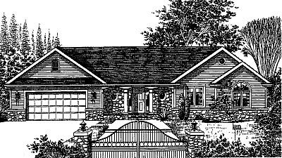 Bungalow Ranch House Plan 99071 Elevation
