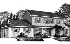 Colonial House Plan 99073 Elevation