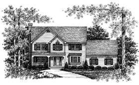 Contemporary House Plan 99074 with 4 Beds, 3 Baths, 2 Car Garage Elevation