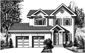 Country , Mediterranean House Plan 99075 with 4 Beds, 3 Baths, 2 Car Garage Elevation