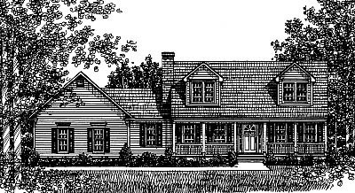 Country House Plan 99076 Elevation