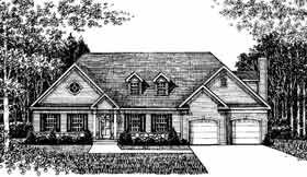 Colonial , Country House Plan 99078 with 4 Beds, 4 Baths, 2 Car Garage Elevation