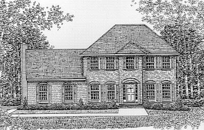Colonial European House Plan 99080 Elevation