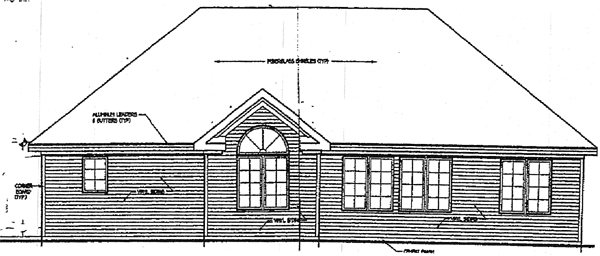 European House Plan 99081 Rear Elevation