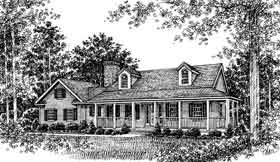 Country House Plan 99083 with 3 Beds, 3 Baths, 2 Car Garage Elevation