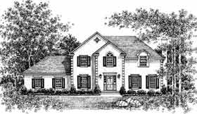 Colonial European House Plan 99085 Elevation