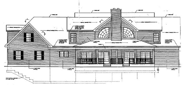 Bungalow Country House Plan 99087 Rear Elevation