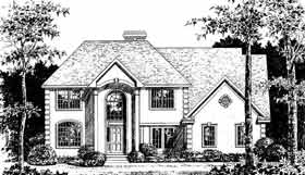 Colonial European House Plan 99088 Elevation