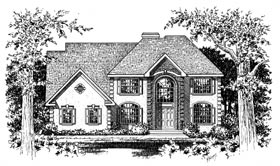 Colonial European House Plan 99091 Elevation
