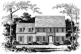 Colonial House Plan 99092 Elevation