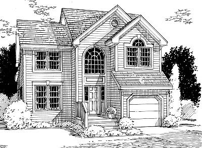 Country, European House Plan 99095 with 3 Beds, 3 Baths, 1 Car Garage Elevation