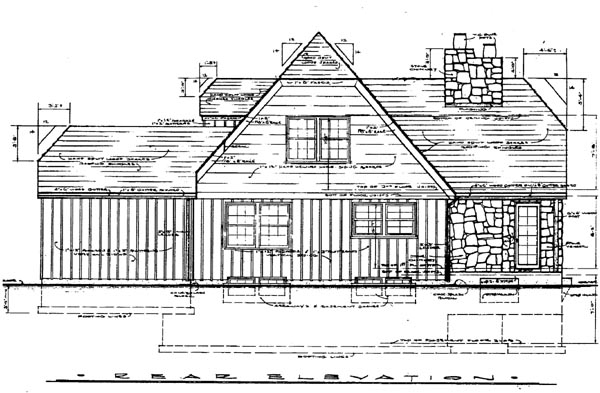 Tudor Rear Elevation of Plan 99098