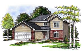 House Plan 99100 | Bungalow, Country Style House Plan with 1536 Sq Ft, 3 Bed, 3 Bath, 2 Car Garage Elevation