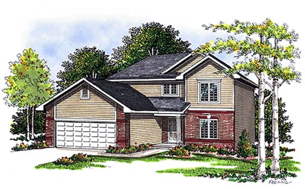 Bungalow, Country House Plan 99100 with 3 Beds, 3 Baths, 2 Car Garage Elevation