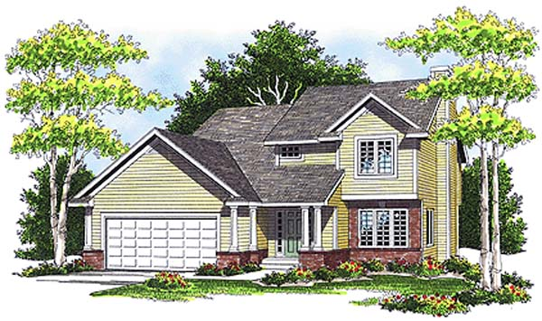 Country House Plan 99102 Elevation