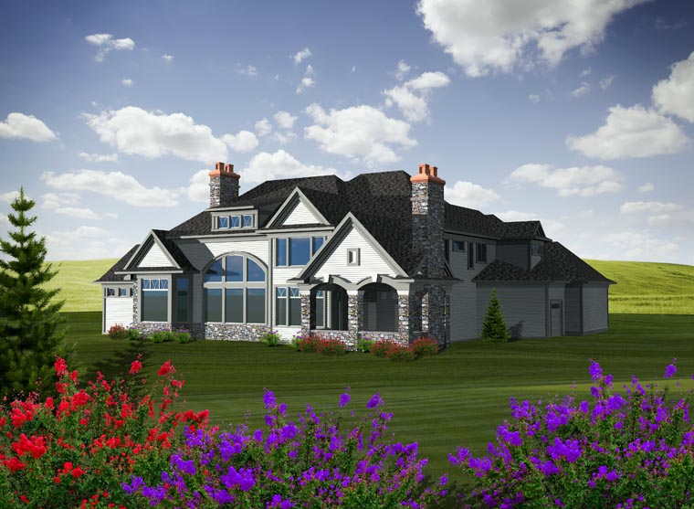French Country House Plan 99103 Rear Elevation