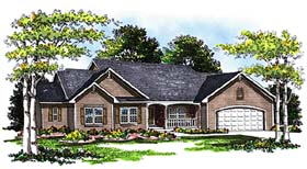 Ranch Traditional House Plan 99105 Elevation