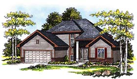 House Plan 99107 | Traditional Style Plan with 1893 Sq Ft, 3 Bedrooms, 3 Bathrooms, 2 Car Garage Elevation