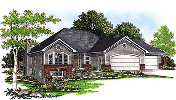 House Plan 99110 | European Style Plan with 2238 Sq Ft, 2 Bedrooms, 2 Bathrooms, 3 Car Garage Elevation