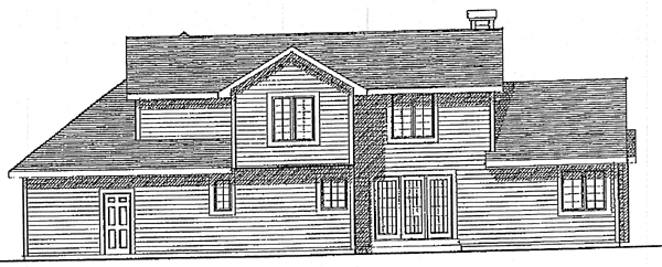 Traditional House Plan 99112 Rear Elevation