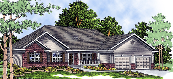 European House Plan 99115 Elevation