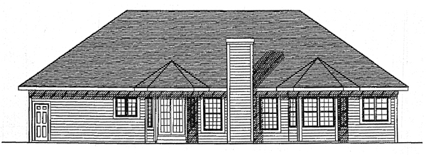 European House Plan 99115 Rear Elevation