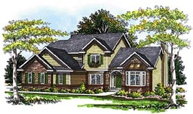 Country House Plan 99116 Elevation