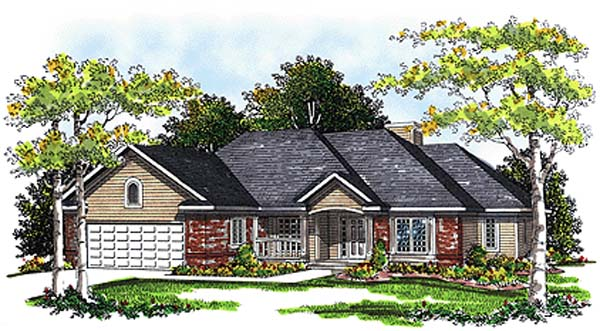 European House Plan 99117 Elevation
