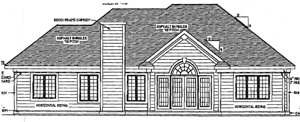 European House Plan 99117 Rear Elevation