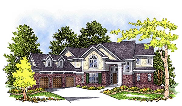 European House Plan 99118 Elevation