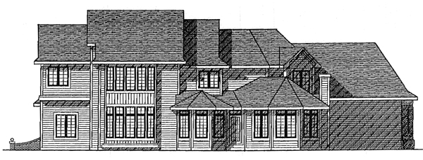 European House Plan 99118 Rear Elevation
