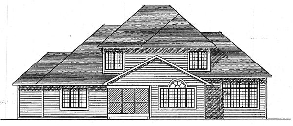 Country European Farmhouse House Plan 99119 Rear Elevation