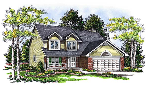 Country House Plan 99124 with 4 Beds, 3 Baths, 2 Car Garage Elevation