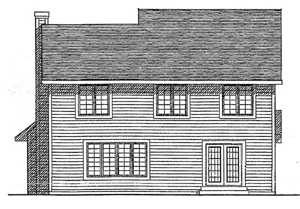 Country , Rear Elevation of Plan 99124