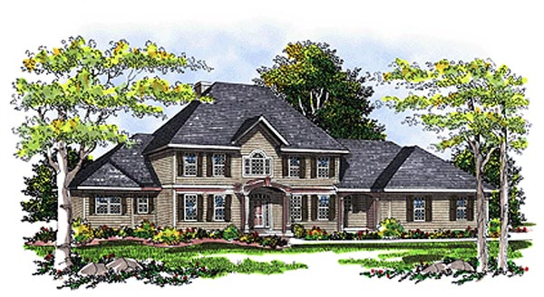 Colonial European House Plan 99128 Elevation