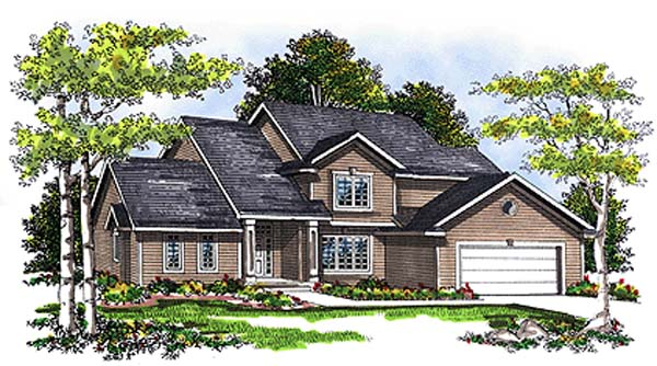 Country Traditional Elevation of Plan 99131