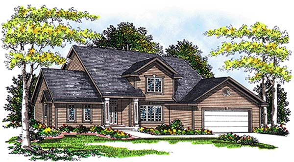 Country Traditional House Plan 99132 Elevation