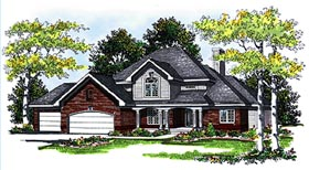 Country House Plan 99133 with 3 Beds, 3 Baths, 3 Car Garage Elevation